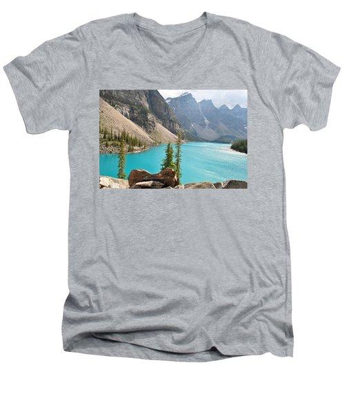 Morraine Lake Men's V-Neck T-Shirt