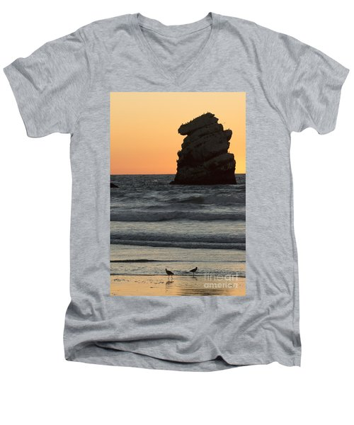 Morro Beach Sunset Men's V-Neck T-Shirt
