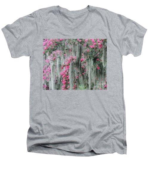 Mossy Crepe Myrtle Men's V-Neck T-Shirt