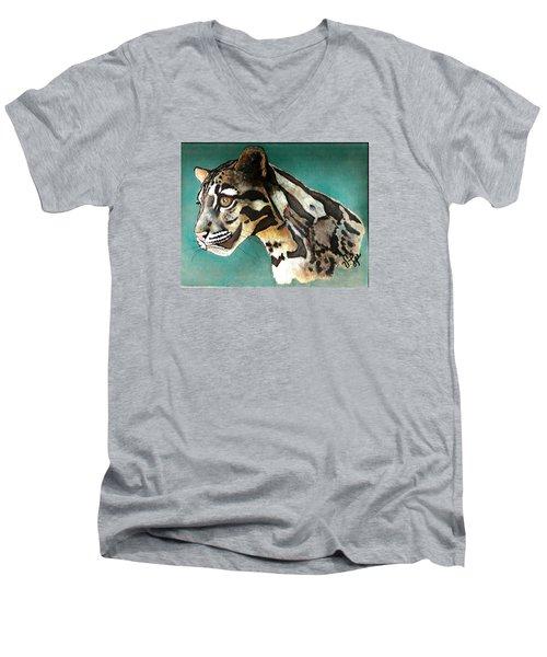 Most Elegant Leopard Men's V-Neck T-Shirt