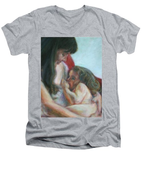 Mother And Child - Detail Men's V-Neck T-Shirt