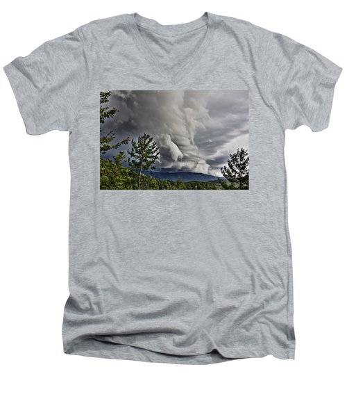 Mother Nature Showing Off V2 Men's V-Neck T-Shirt