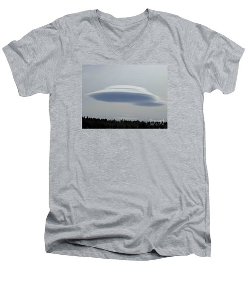 Men's V-Neck T-Shirt featuring the photograph Mother Ship by Fiona Kennard