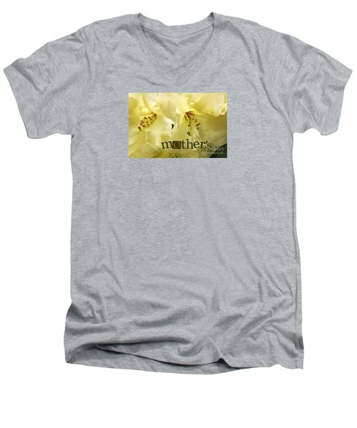Men's V-Neck T-Shirt featuring the photograph Mothers Day by Jean OKeeffe Macro Abundance Art