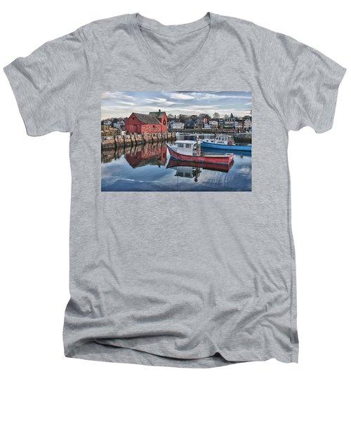 Motif 1 Sky Reflections Men's V-Neck T-Shirt