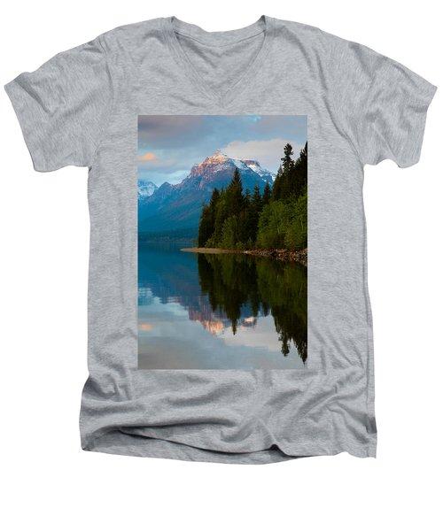 Mount Cannon Men's V-Neck T-Shirt by Aaron Aldrich
