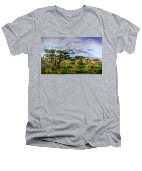 Mount Kilimanjaro Tanzania Men's V-Neck T-Shirt
