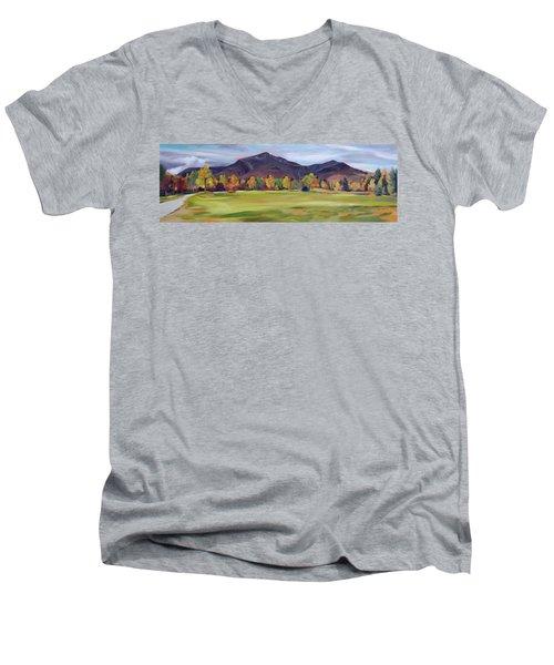 Mount Osceola New Hampshire Men's V-Neck T-Shirt by Nancy Griswold