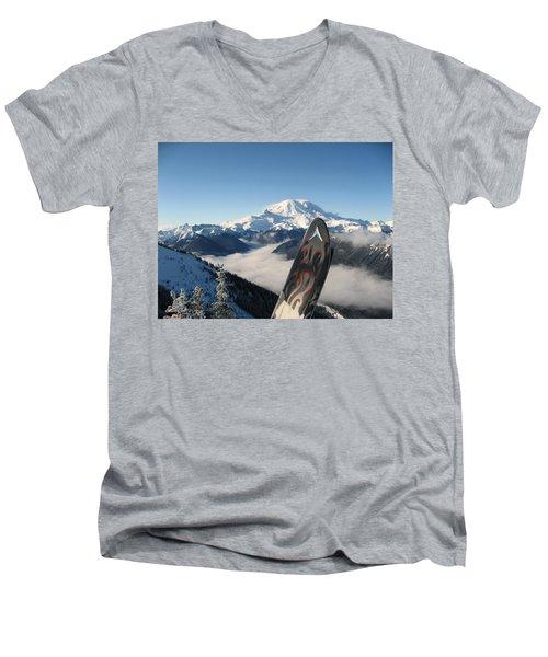 Mount Rainier Has Skis Men's V-Neck T-Shirt