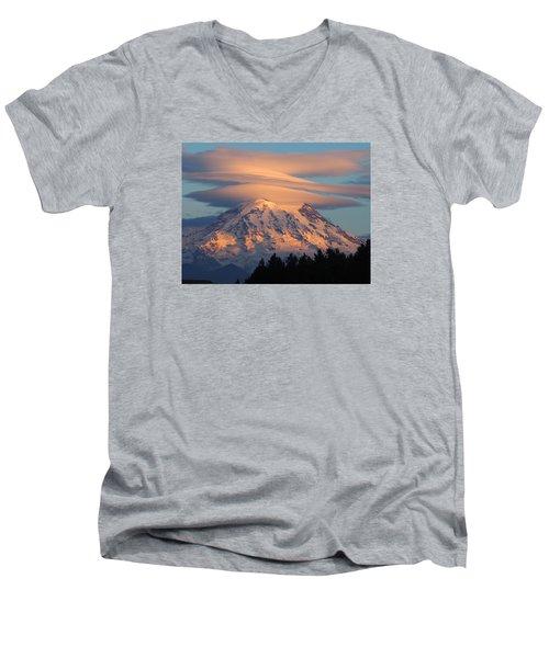 Mount Rainier In November  Men's V-Neck T-Shirt