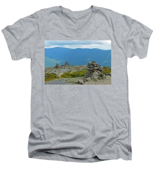 Mount Washington Rock Cairns Men's V-Neck T-Shirt