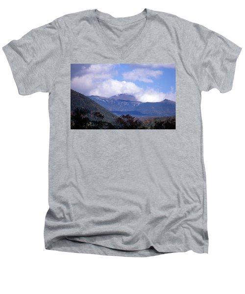 Mount Washington Men's V-Neck T-Shirt by Skip Willits