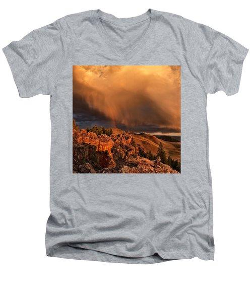 Mountain Drama Men's V-Neck T-Shirt