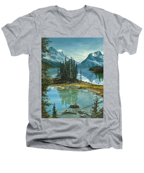 Mountain Island Sanctuary Men's V-Neck T-Shirt