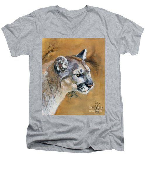 Mountain Lion Men's V-Neck T-Shirt