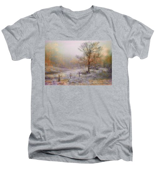 Mountain Mist II Men's V-Neck T-Shirt by William Beuther