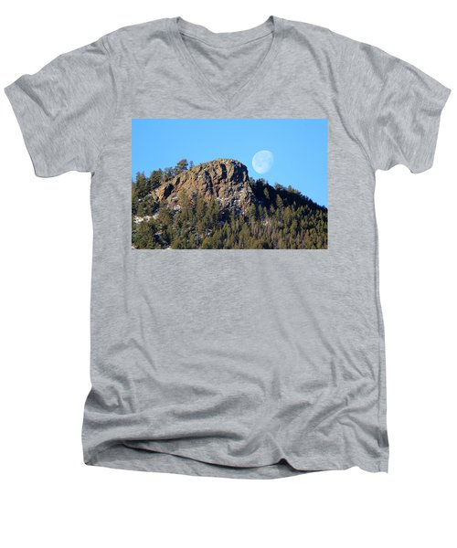 Mountain Moonset Men's V-Neck T-Shirt