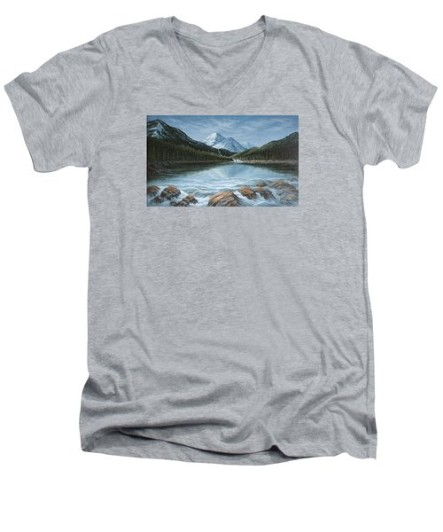 Mountain Paradise Men's V-Neck T-Shirt