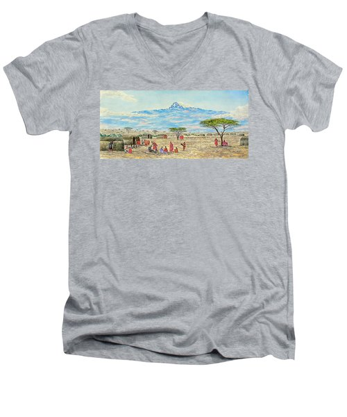 Mountain Village Men's V-Neck T-Shirt