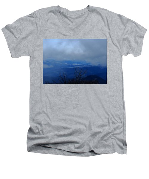 Mountains And Ice Men's V-Neck T-Shirt
