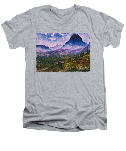 Mountains Of Pyrenees  Men's V-Neck T-Shirt