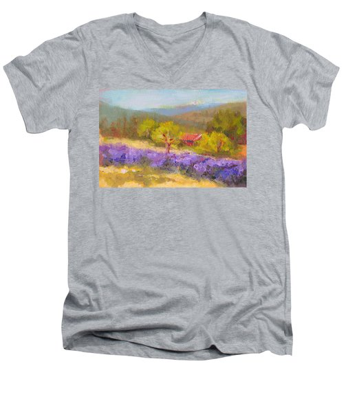 Mountainside Lavender   Men's V-Neck T-Shirt