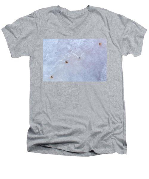Moving Through Ice Men's V-Neck T-Shirt