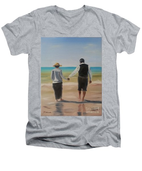 Mr. Carson And Mrs. Hughes Men's V-Neck T-Shirt by Bev Conover