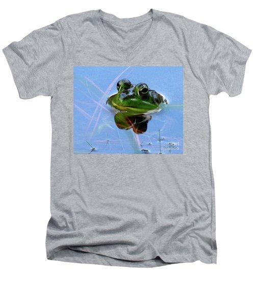 Mr. Frog Men's V-Neck T-Shirt