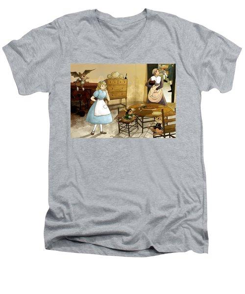 Mrs. Gage's Kitchen Men's V-Neck T-Shirt by Reynold Jay