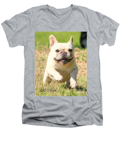 Ms. Quiggly's Olympic Run Men's V-Neck T-Shirt