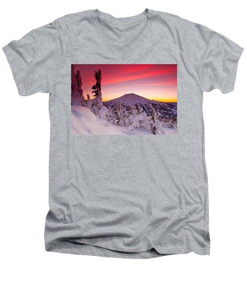 Mt. Bachelor Winter Twilight Men's V-Neck T-Shirt