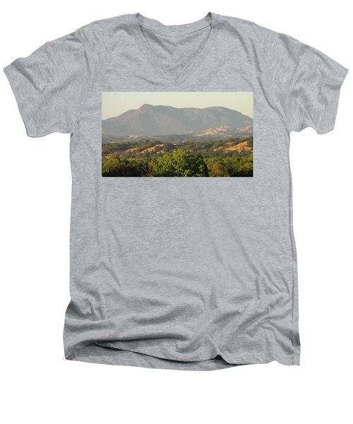 Men's V-Neck T-Shirt featuring the photograph Mt. Cali by Shawn Marlow
