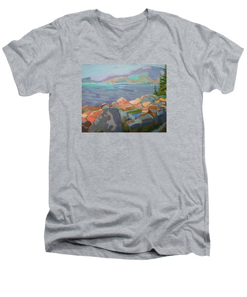 Mt. Desert From Schoodic Point Men's V-Neck T-Shirt