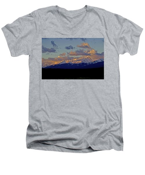 Mt Elbert Sunrise Men's V-Neck T-Shirt