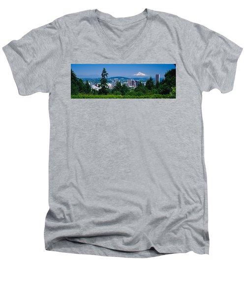 Mt Hood Portland Oregon Usa Men's V-Neck T-Shirt