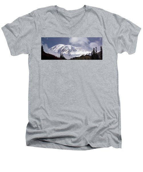 Men's V-Neck T-Shirt featuring the photograph Mt Rainier  by Greg Reed