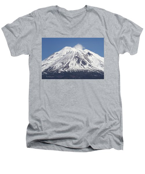 Mt Shasta California Men's V-Neck T-Shirt