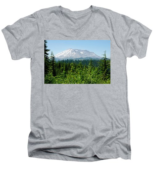 Mt. St. Hellens Men's V-Neck T-Shirt by Tikvah's Hope