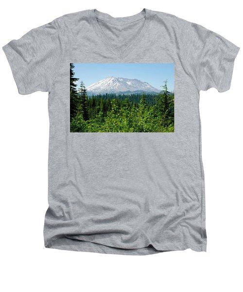 Mt. St. Helens Men's V-Neck T-Shirt