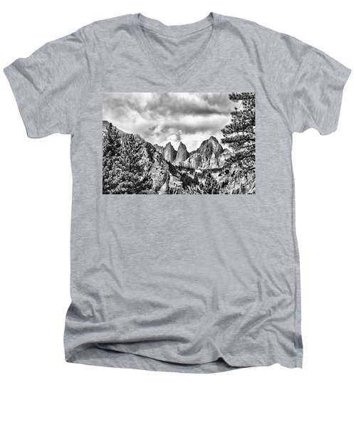 Mt. Whitney Men's V-Neck T-Shirt by Peggy Hughes