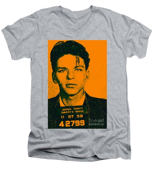 Mugshot Frank Sinatra V1 Men's V-Neck T-Shirt