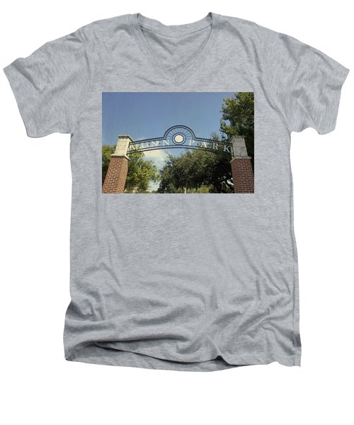 Munn Park Men's V-Neck T-Shirt by Laurie Perry