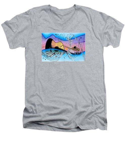 Musica Men's V-Neck T-Shirt