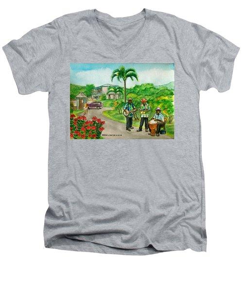 Musicians On Island Of Grenada Men's V-Neck T-Shirt