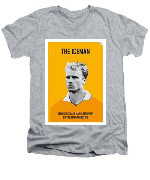 My Bergkamp Soccer Legend Poster Men's V-Neck T-Shirt
