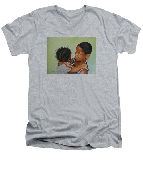 My Brother's Keeper Men's V-Neck T-Shirt