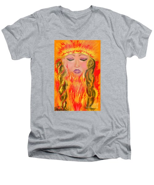 My Burning Within Men's V-Neck T-Shirt