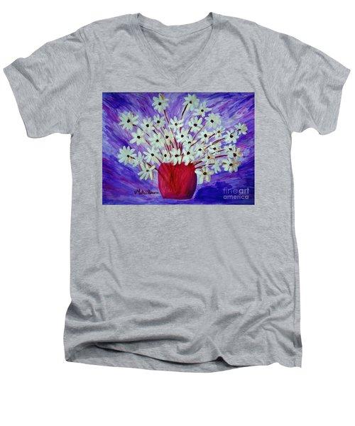 My Daisies Blue Version Men's V-Neck T-Shirt