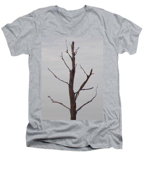 Men's V-Neck T-Shirt featuring the photograph Alzheimer's  Please Read Description by John Glass